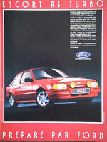 PUBLICITÉ DE PRESSE 1986 FORD ESCORT RS TURBO - ADVERTISING