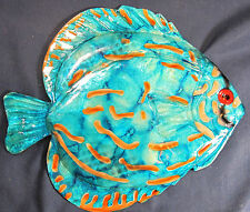 Tropical Reef Fish Blue Discus Wall Art Home Decor sea life decor
