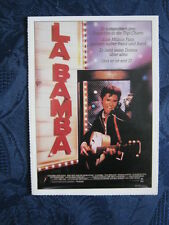 Filmplakatkarte / moviepostercard  cinema  La Bamba  Lou Diamond Philips