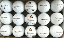 New listing 15 TAYLOR MADE TP5x and RBZ white used golf balls, AAAA, FREE SHIPPING