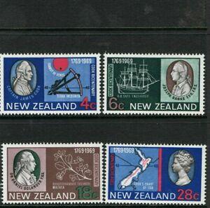 MINT 1969 NEW ZEALAND NZ COOK CENTENARY SET OF 4