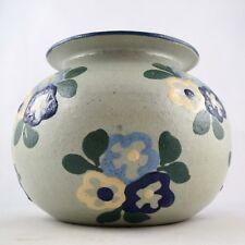 """Céramique JEAN GARILLON Vase Boule """"Fleurs"""" SOUFFLENHEIM Alsace elchinger1920/30"""