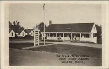 Wilton ME Felix Motor Lodge Over Night Camps c1920s-30s Real Photo Postcard