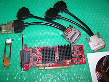 ATI FireMV 2400 PCI Quad Display Graphics card + cable to connect 4 monitors