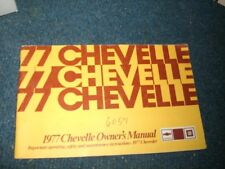 1977 Chevrolet Chevelle Factory Original Owners Manual Nice Complete Original