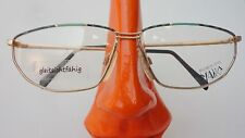 Lunettes Brille goldgrün Metallrand Gestell Markenbrille glasses Frauen size M