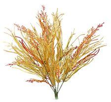 "Artificial Yellow Fall Grass Orange Berry Spray Bush Autumn Fall Floral Home 20"""