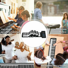 61 Key Roll Up Piano Electronic Keyboard Silicone Rechargeable Bluetooth w/Pedal