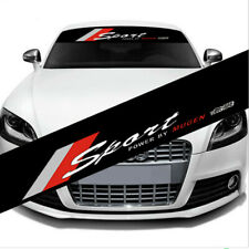 1Pcs Car Front Windshield Sticker Racing Decals For Sport Power By Mugen Decals