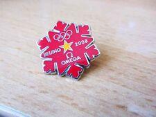 Omega Watch Beijing Promo Pin Vancouver 2010 Olympics Winter Games Souvenir