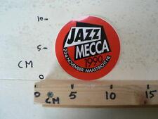 STICKER,DECAL JAZZ MECCA 1990 2-3-4 NOVEMBER MAASTRICHT NL MUSIC