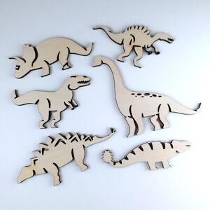 Wooden dinosaur Shapes Embellishments Decorations nursery craft supplies