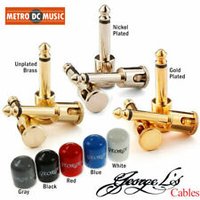 George Ls .155 Right-Angle Plugs & Stress Relief Nickel Brass Gold Red White Blk