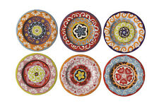 Rose & Tulipani Nador 13cm Canape Tapas Side Plates Set of 6 Stone Mediterranean