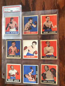 RARE 1948 LEAF FULL SET BOXING CARDS 49 CARDS  NICE  SUGAR RAY ROBINSON !!!!