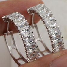Gold Filled Stud Lady Earrings H2524 Classy Fabulous White Multi Cz Gems Jewelry