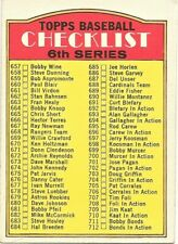 1972 Topps Baseball #604 Checklist Unmarked High Number Copyright Bottom Left