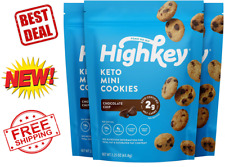 HighKey Snacks Keto Food Low Carb Snack Cookies, Chocolate Chip, 3 Pack- New