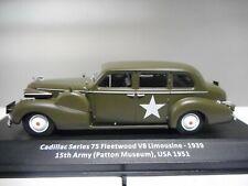 CADILLAC SERIES 75 FLEETWOOD V8 US ARMY WW II ALTAYA IXO 1:43