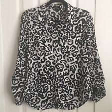 Ann Taylor Animal Print Blouse Size 4