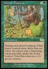 Greener Pastures NM/SP Urza's Saga MTG Magic the Gathering Green English Card