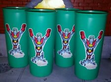 New ListingTupperware ~ Vtg Nos (4) Cups Tumblers Captain Planet Turquoise 12 oz ~ New