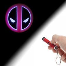 Marvel Comics Deadpool Logo Projection Flashlight Keychain, NEW UNUSED