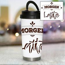 """Thermobecher /""""But first coffee/"""" KTB321 Kaffee Tee ToGo Spruch Büro Geschenk"""