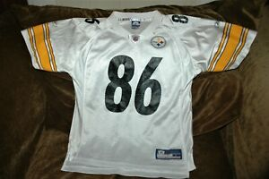 Hines Ward jersey! Pittsburgh Steelers YOUTH large 14-16 vintage white throwback