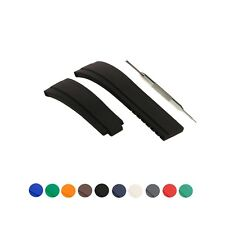 21mm Silicone Watch Strap Band Fits For Rolx Yacht Master Oysterflex W/ Tool