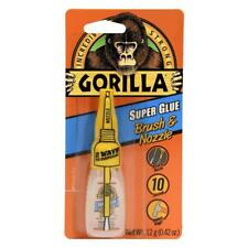 Gorilla Glue SUPER GLUE with brush & nozzle bonds metal, ceramic, plastic 12g