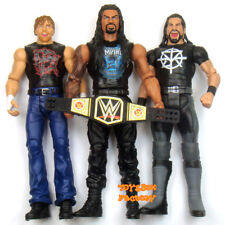 3x WWE The Shield Seth Rollins Dean Ambrose Roman Reigns Action Figures Toys Set