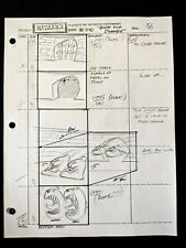 Beetlejuice 1989 TV Series Animation Production Hand Drawn Storyboard Page 56