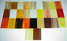 """Stained Glass Sheet Variety Pack of 29 Pieces - 2"""" X 4"""" - Great Autumn Colors"""