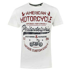 New Mens T Shirts Printed Short Sleeve Crew Round Neck Tees Cotton Casual Top