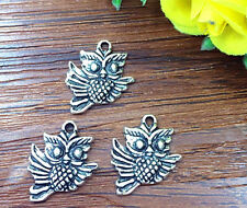 6pcs Owl Tibetan Silver Bead charms Pendants DIY jewelry 20x15mm
