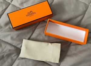 Hermes Empty lipstick box & pouch used great condition