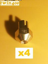 NEW!!! 4 X size 130 Main Jet Replacement for Weber Webber DCOE, IDF, IDA carbs