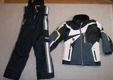 OBERMEYER SKI SNOW SUIT JACKET SET PANTS BIBS OUTFIT BLACK GRAY I GROW BOY'S 6