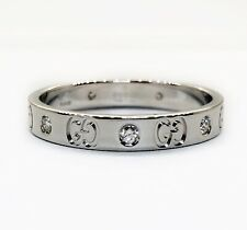 c2226d658 Gucci Icon Thin Band 18K Solid White Gold Diamond Ring Size 12 Unisex