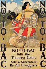 Vtg No To Bac Art Deco Ad Print Poster Maxfield Parrish Stop Tobacco Promo #S45