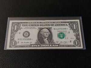2013 $1 B series DOLLAR STAR NOTE B01370398* NEW YORK Circulated