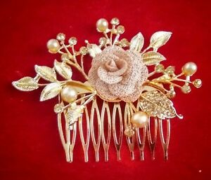 Indian Gold Tone Hair Pin Accessory Fix For Judda And Ponytail Bridal Party Set