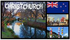 CHRISTCHURCH, NEW ZEALAND - SOUVENIR NOVELTY FRIDGE MAGNET - NEW - GIFT / XMAS