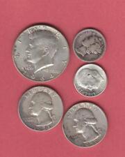 $1.20 Face Value 90% Junk Silver Quarters Dimes Halves Free Shipping!