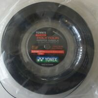 Yonex Tennis String Poly Tour Tough 125, PTT 125-2, 1.25 mm/16L GA 200m, Black