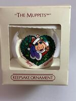 "Hallmark 1984 ""The Muppets"" Glass Bulb Christmas Glass Ornament In Box Keepsake"