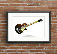 Pete Townshend's #5 Wine Red Gibson Les Paul Deluxe ART POSTER A2 size