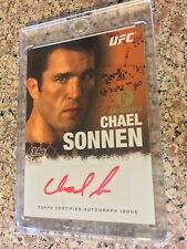 2010 Topps UFC Series 4 Red Ink 1st Auto - CHAEL SONNEN 01/15 - Rookie Bellator