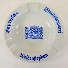 Vintage Staatsbrauerei Weihenstephan Bayerische Brewery Advertising Ashtray